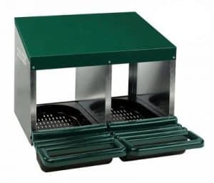Roll Out Poultry Nesting Box for Chickens - 2 Compartment