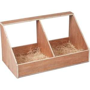 One of the most basic needs are Chicken Coop Nesting boxes! Every coop or house needs a nesting box for the hens! For Use In or Out of Coops Helps Eliminate Nest Sharing.