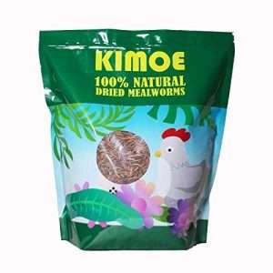Kimoe 5LB 100% Natural Non-GMO dried mealworms for Birds, chickens