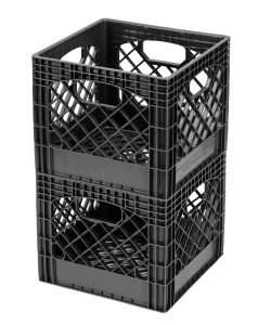 Buddeez MC01016BLK Milk Crates