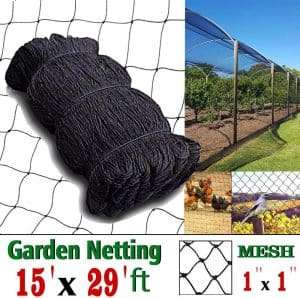 COMPATH Bird Netting 15 Ft x 29 Ft, 1 Inch Mesh