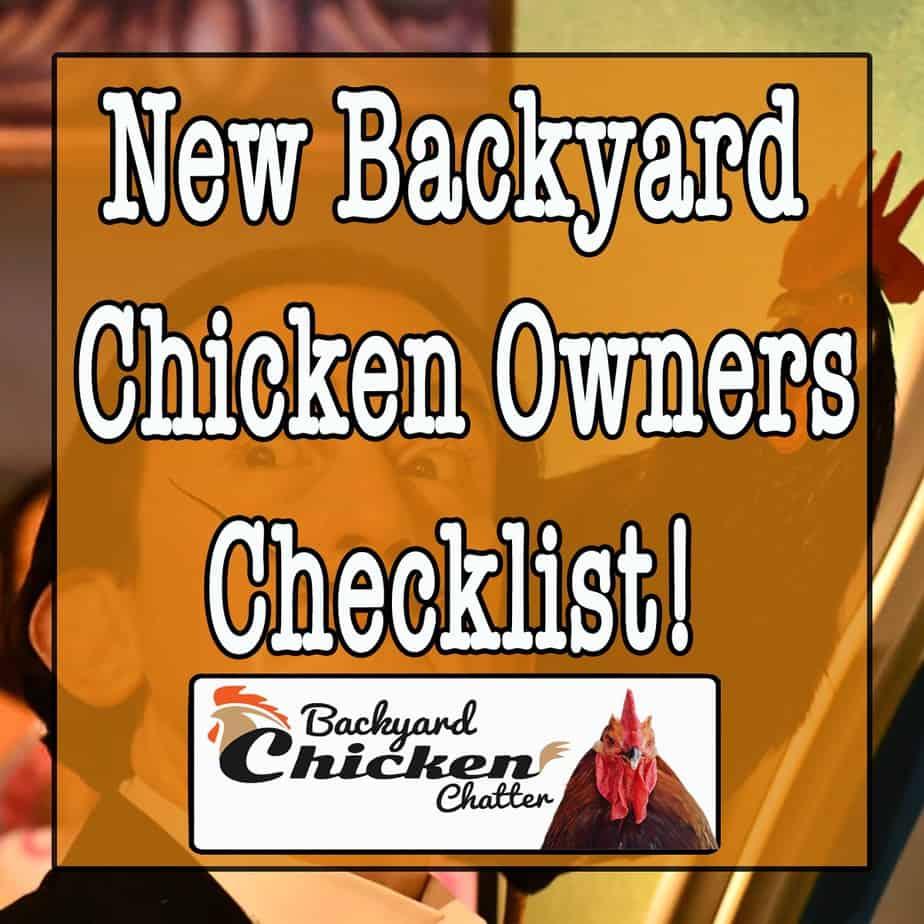 New Backyard Chicken Checklist